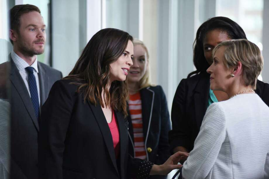"Hayley Atwell (center) is Hayes Morrison, daughter of an ex-president and a senator but bearing no resemblance to Chelsea Clinton, in ""Conviction."" Photo: John Medland / John Medland / ABC / © 2016 American Broadcasting Companies, Inc. All rights reserved."