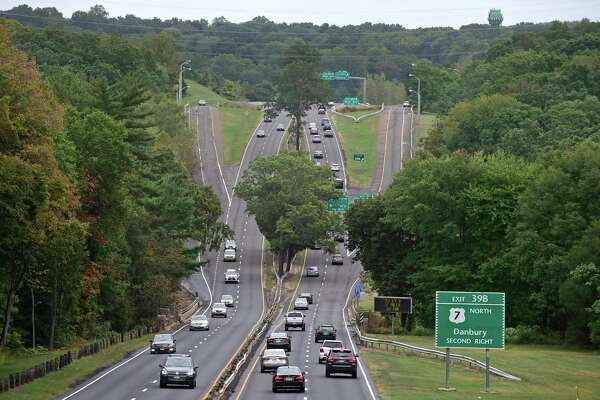 The Merritt Parkway and Route 7 / Main Avenue interchange in Norwalk, Conn. Friday, September 30, 2016. The Connecticut Department of Transportation is starting a new planned overhaul of the Route 7, Main Avenue, and Merritt Parkway interchange. The State Bond Commission will likely approve the $4 million to cover the redesign.