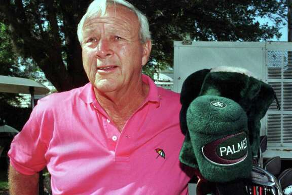 This file photo taken on March 11, 1997 shows golf great Arnold Palmer before a press conference at the Bay Hill Club in Orlando, Fla.