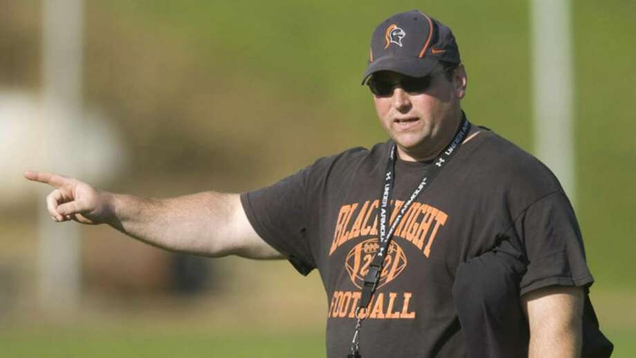 Head coach Kevin Jones during a Stamford High School varsity football practice at Stamford High School in Stamford, Conn. on Friday, Sept. 4, 2009. Photo: File Photo / Stamford Advocate File Photo