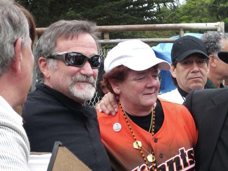 Robin Williams and Debi Durst in 2010. (Photo: Dave Pokorny)