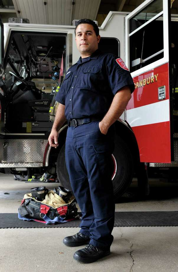 Danbury Firefighter Gabriel Rivera, 40, is this year's winner of the Danbury Fire Department's Bravery Award. Photo Friday, Sept. 30, 2016 Photo: Carol Kaliff / Hearst Connecticut Media / The News-Times