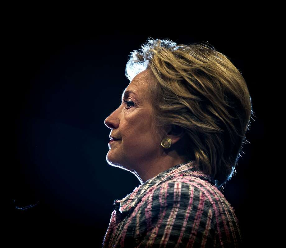 Hillary Clinton speaks at a campaign rally at the Sunrise Theatre in Fort Pierce, Fla., Sept. 30, 2016. A poll of Florida voters conducted entirely after Monday night's debate shows Clinton receiving the support of 46 percent of likely voters, with Donald Trump garnering 42 percent -- an indication that his surge in support may be cooling in this key electoral state.  Photo: DOUG MILLS, NYT