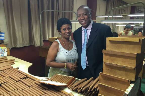 Mayor Sylvester Turner visited a Cuban cigar factory in Havana during his trade mission to Cuba this past weekend.