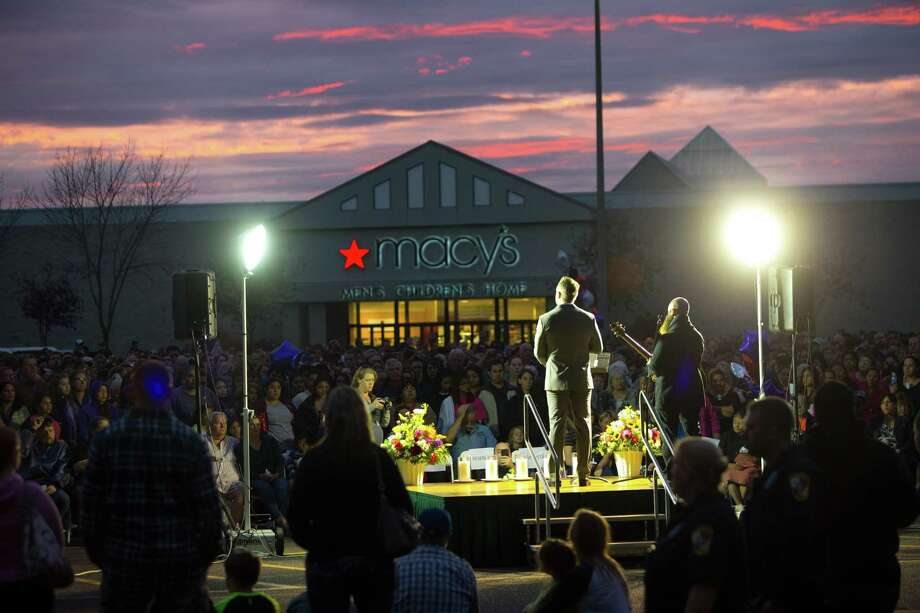 Hundreds gather for a candlelight vigil outside the Cascade Mall on in Burlington, Washington, after five people were shot and killed by a gunman on Sept. 24. The suspect, Arcan Cetin, was initially misidentified as a Hispanic, showing a rush to judgment, according to a reader. Photo: Karen Ducey /Getty Images / 2016 Getty Images