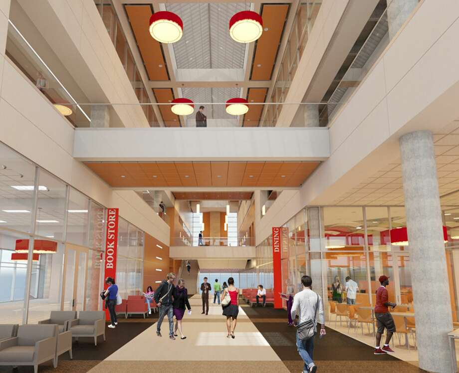 Another view of the UIW Student Engagement Center concourse area, set to open summer 2017.  Photo: University Of The Incarnate Word
