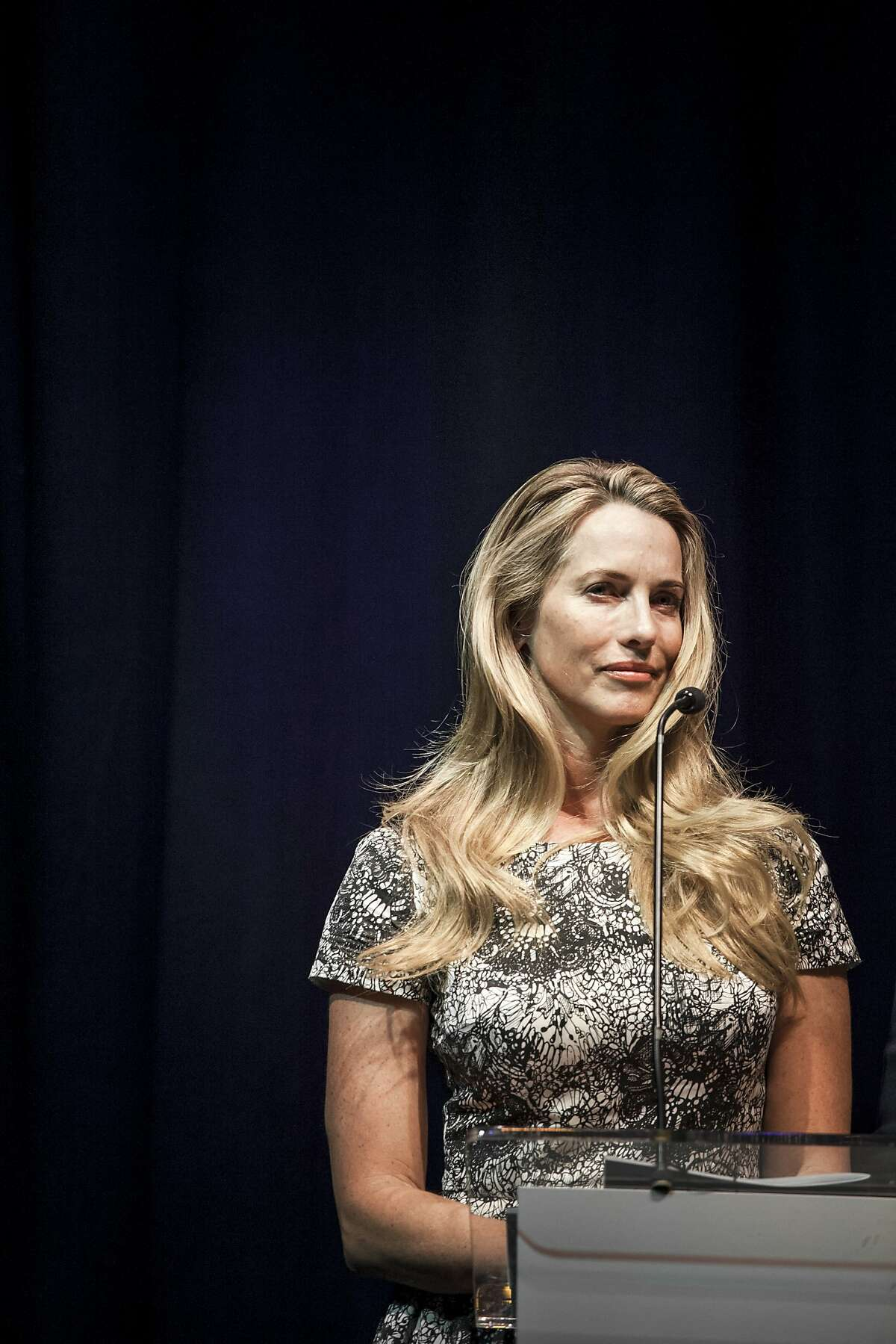 FILE -- Laurene Powell Jobs, the founder of Emerson Collective and widow of Apple's co-founder, in New Orleans, May 10, 2013. A major investor in the Walt Disney Co. who ?'believes in the power of storytelling,