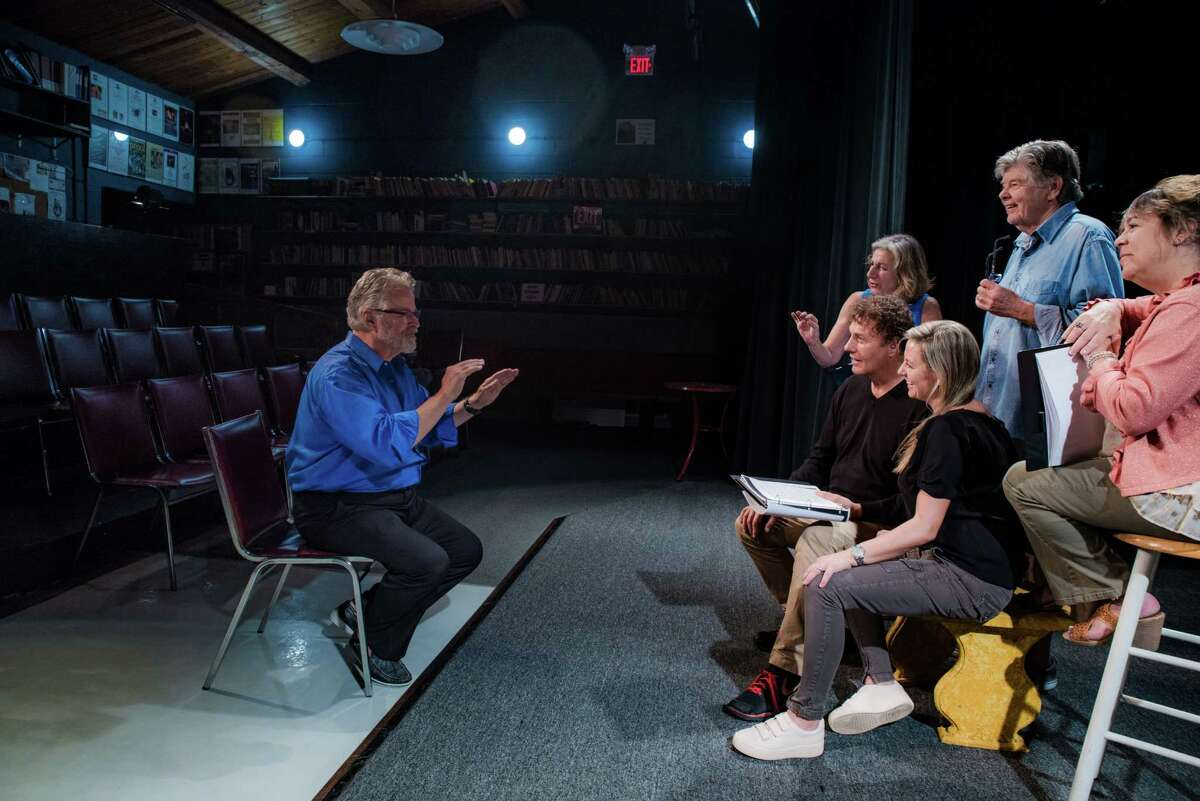 Mark Graham directs actors at the Theater Artists Workshop in Norwalk on a new production in the works.