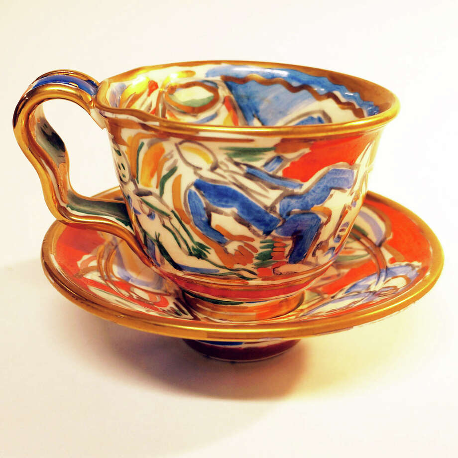 This 1986 cup and saucer by Norwalk ceramicist Betty Woodman, done in collaboration with the late Viola Frey, is listed on an online research tool recently launched by Greenwich resident Martha Vida. The Marks Project: The Dictionary of American Studio Ceramics, 1946 to Present, provides information about the marks, or signatures of the artists, as well as other biographical information. Photo: The Marks Project / Contributed Photo / The Marks Project