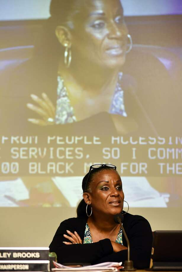 Desley Brooks, seen in 2015, held a 40-minute dia tribe at an Oakland City Council meeting Thursday. Photo: Michael Short, Special To The Chronicle