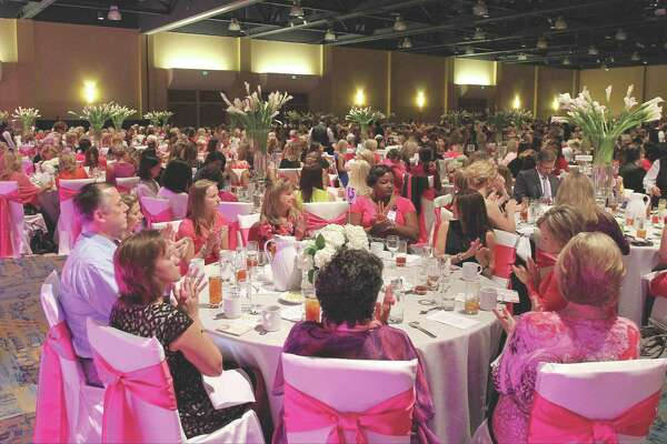 More than 1,200 people attended the annual In the Pink of Health luncheon at The Woodlands Waterway Marriott Friday. The event raised money for breast cancer research, technology and providing underprivileged women in Montgomery County with free mammograms. Go to HCNPics.com to view more photos from the event.
