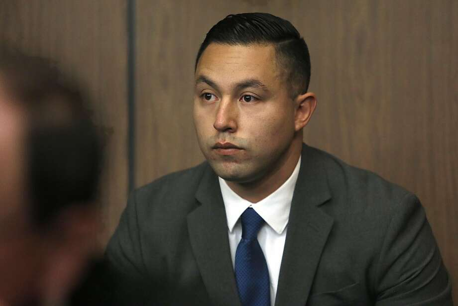 FILE – An ex-Contra Costa County sheriff's deputy Ricardo Perez appears at the Hayward Hall of Justice for arraignments on charges stemming from a broad sexual misconduct investigation involving a teenager on Friday, September 30, 2016 in this file photo taken in Hayward. A new felony charge was brought against Perez in the case. Photo: Liz Hafalia, The Chronicle