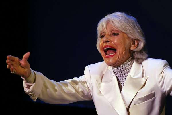 Carol Channing told backstage stories from some of her Broadway hits like Hello Dolly and Gentlemen Prefer Blondes Saturday night. Carol Channing and Friends performed at the Creative Arts McKenna Theatre at San Francisco State College July 18, 2009. The performance raised money for Arts and theater programs in public schools.