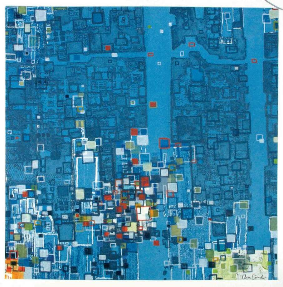 """""""Interpolation I"""" by New Canaan artist Ann Conrad, winner of the honorable mention in """"Footprint,"""" on view at the Center for Contemporary Printmaking in Norwalk. Photo: Contributed Photo / Stamford Advocate Contributed"""