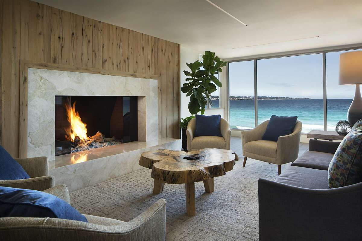 Monterey Tides� renovated lobby includes a fireplace that provides a warm alternative to the cool ocean breezes.
