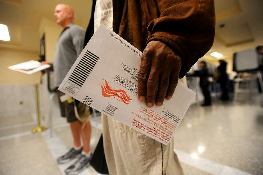 San Francisco is one of four cities in California with ranked-choice voting. A bill to enable other cities in the state to adopt the voting system was vetoed in September by Gov. Jerry Brown. Photo: Noah Berger, Special To The Chronicle