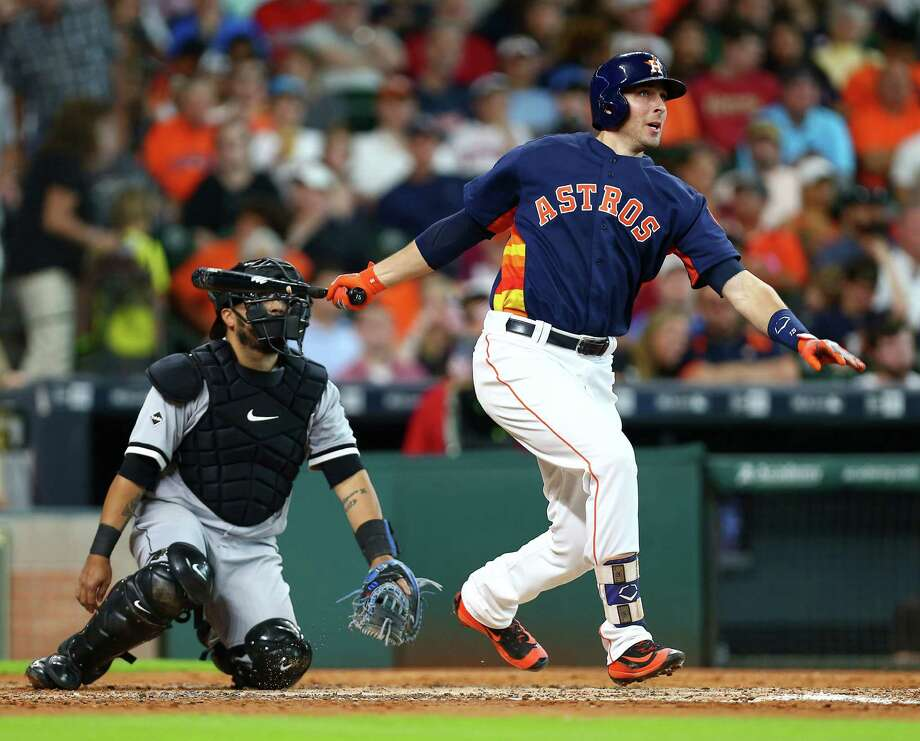 Better known for his defensive prowess, catcher Jason Castro's offense has been hit-or-miss during most of his six years with the Astros, and actually more miss than hit with the exception of his 2013 All-Star season. Photo: Jon Shapley, Staff / © 2015  Houston Chronicle