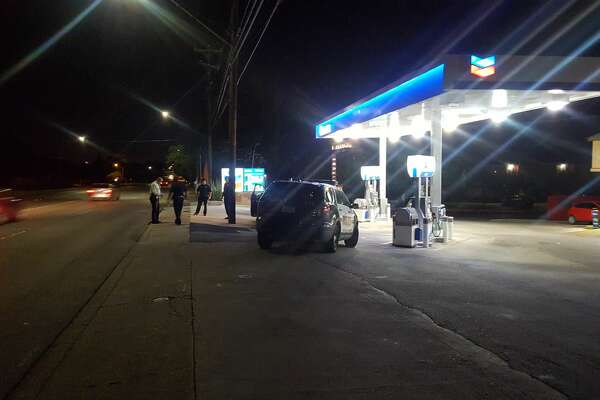 A man was found with at least two gunshot wounds Friday evening near a gas station in the 6400 block of Wurzbach Road.