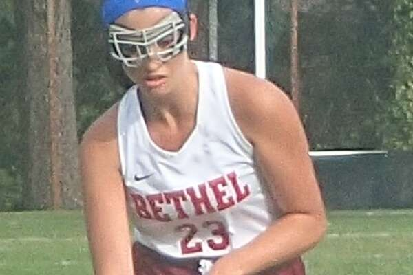 FILE PHOTO: Bethel's McKenna Trohalis in action during the field hockey game against Newtown at Bethel High School Sept. 29, 2016.