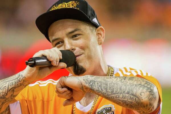 Houston rapper Paul Wall perform during half-time to the game between the Houston Dynamo and the New York City FC during an MLS soccer game at BBVA Compass, Friday, September 30, 2016, in Houston. New York City FC defeated Houston Dynamo 2-0. (Juan DeLeon/Houston Chronicle )