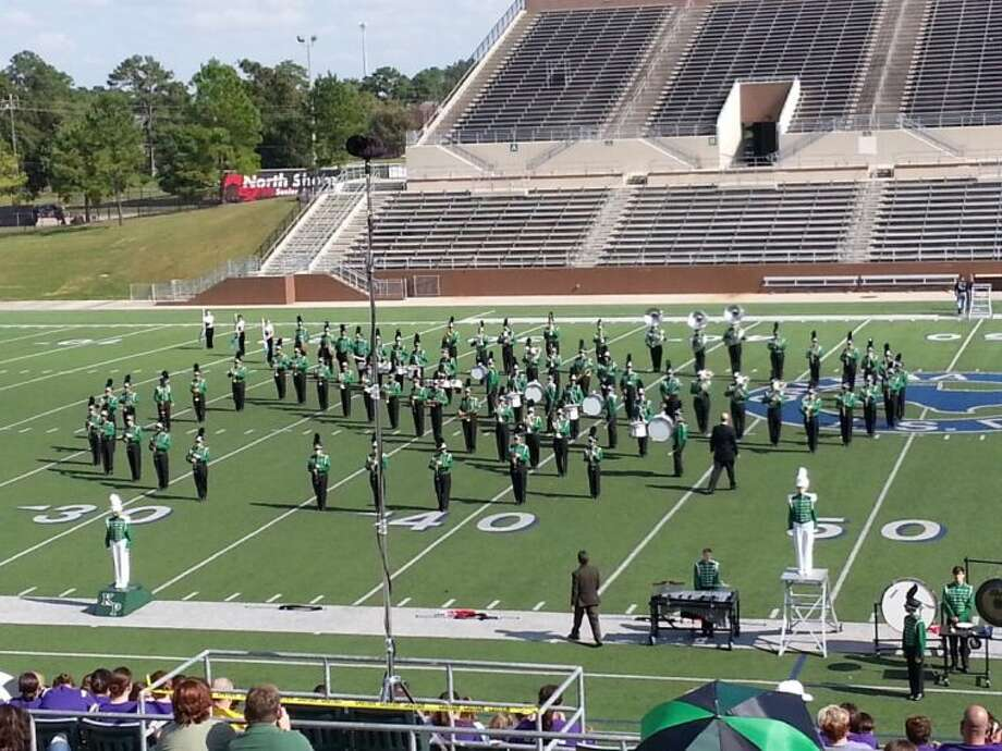 The Kingwood Park High School Band performed at the UIL Marching Band Competition Oct. 19, 2013 where they received First Division for their performance.