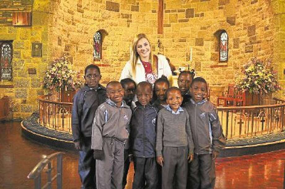 Tamsyn Morison recently volunteered at the Vuleka School in Johannesburg, South Africa. / @WireImgId=2634742