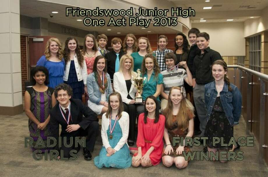 The FJH UIL Academic Team earned the trophy for First Place Academic Team at the UIL district contest. One Act Play participants earned FJH First Place for their One Act Play. The combined efforts of the talented students of the Academic Team and the One Act Play allowed Friendswood Junior High to bring home the First Place Overall Trophy.