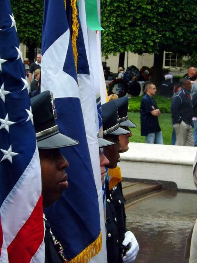 The Pearland Police Department Honor Guard participated in National Police Week events in Washington D.C. Pictured from left: Officers Corey Dotson, Omar Rivera, Natisha Lucas and Ornaldo Ybarra.
