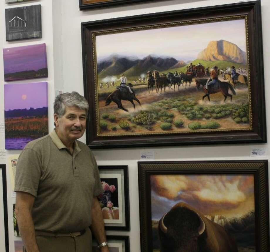 John Davis displays a variety of art from several different artists in his gallery. The public is invited to visit Chelten's Photo and Art Gallery located at 201 Highway 150 in Coldspring.