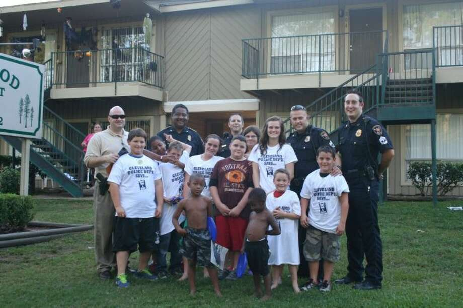 Several Cleveland Police Officers participated in National Night Out, which was observed on Oct. 1. Cleveland Police Chief Darrel Broussard, along with Capt. Scott Felts, Sergeant Kevin Potter, and Detectives Jacob Ladwig and John Shaver, drove several local neighborhoods and handed out T-shirts and stickers.