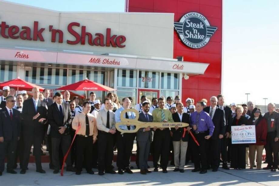 The Clear Lake Chamber of Commerce hosted a ribbon cutting ceremony for the new Steak and Shake location in Webster Thrusday (Jan. 31).