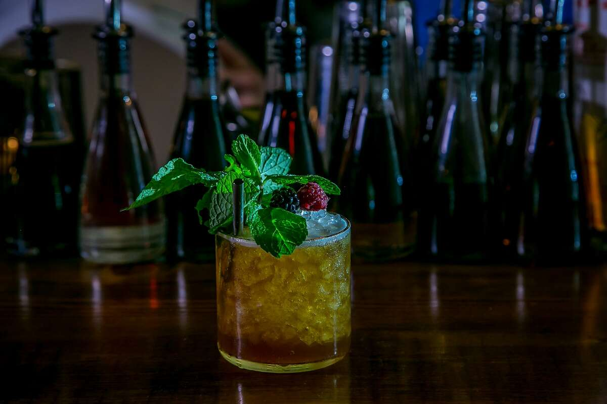 The Sherry Cobbler at Pacific Cocktail Haven in San Francisco. The acclaimed bar is temporarily closed due to a fire.