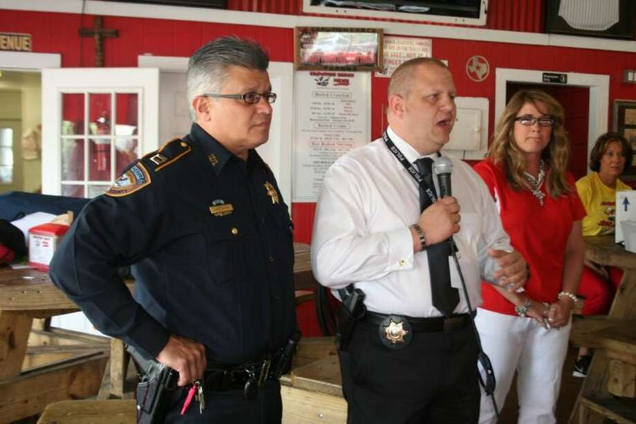 Capt. Joel Inocencio, left, of the Harris County Sheriff's Office and Capt. Jasen Rabalais, right, of the Harris County Pct. 3 Constable's Office, are the leaders of a new joint task force created between the two agencies. The group is targeting high crime areas, drug activity and car thefts.