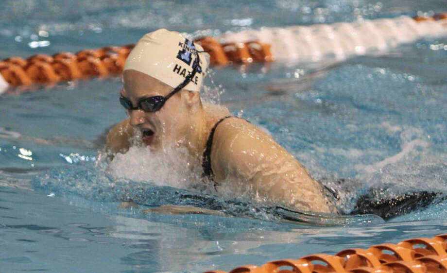 Kingwood's Madeline Hazle finished fifth in the Class 5A prelims of the girls 200-yard IM with a time of 2 minutes and 5.65 seconds during the UIL State Swimming and Diving Meet at the Lee and Joe Jamail Texas Swim Center on Feb. 22, in Austin.