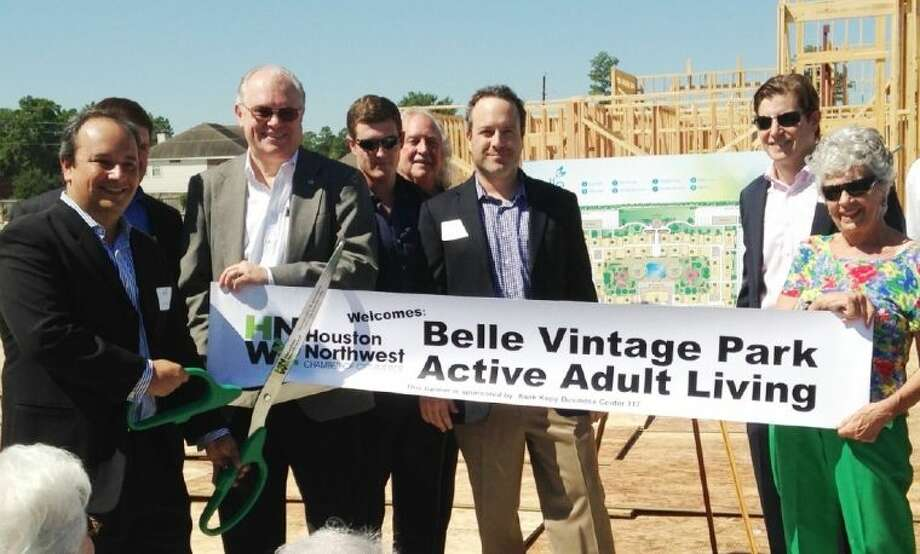 Belle Vintage Park celebrated its official groundbreaking during a joint ribbon cutting ceremony on Sept. 26 with the Northwest Houston and Tomball Chamber of Commerce.