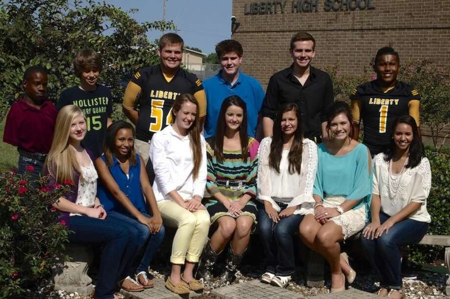 The Liberty High School Homecoming Court for 2013 is comprised of freshmen Akeea Fairchild and Jacob Stelly, sophomores Hannah Hinch and Brandon Chaney, and juniors Kristin Ozan and Joseph Wickliff. The senior queen candidates are Madison Cook, Augusta Davis, Gabriella Higgins and Madison Regian, with the senior king candidates Blake Brown, Hunter Gilfillian, and Michael Seay.