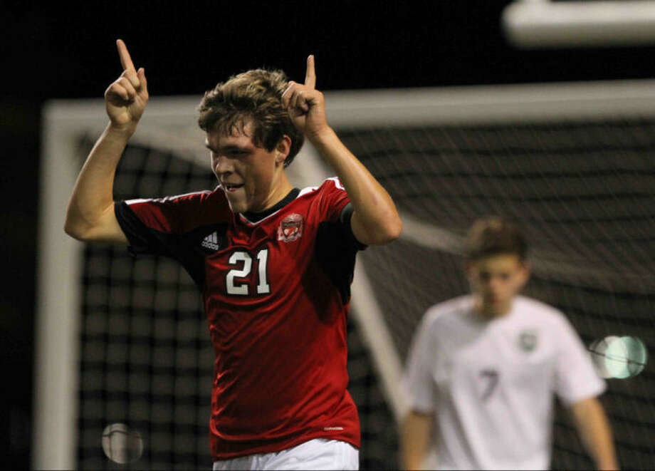 Langham Creek forward Jacob Marek scored in the Lobos' bi-district playoff win over Nimitz on Thursday.