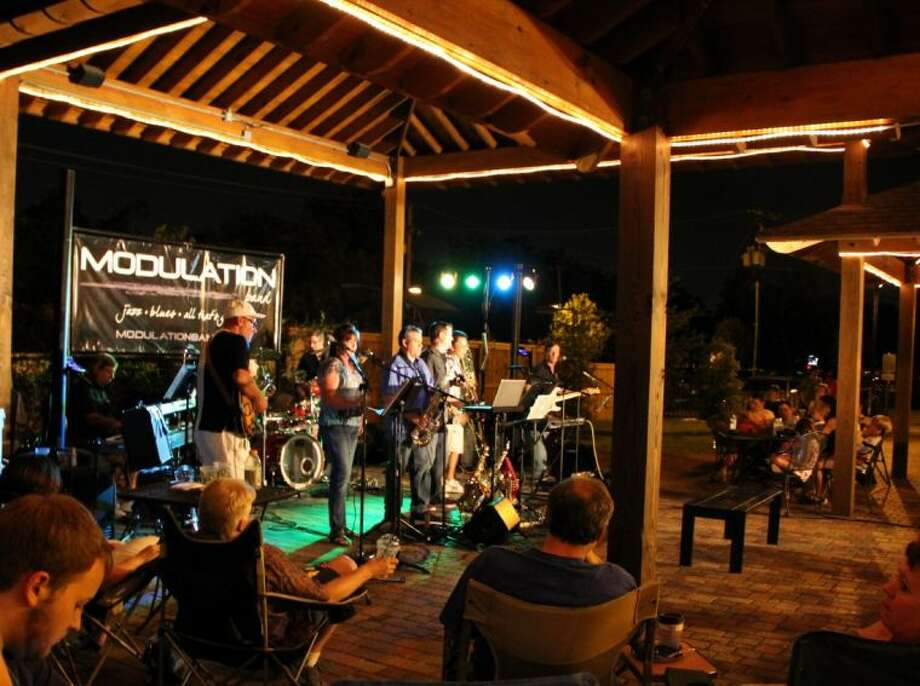 Dunn Bros Coffee hosted an evening of live music under the stars featuring the Pearland-based band Modulation Saturday (August 17).