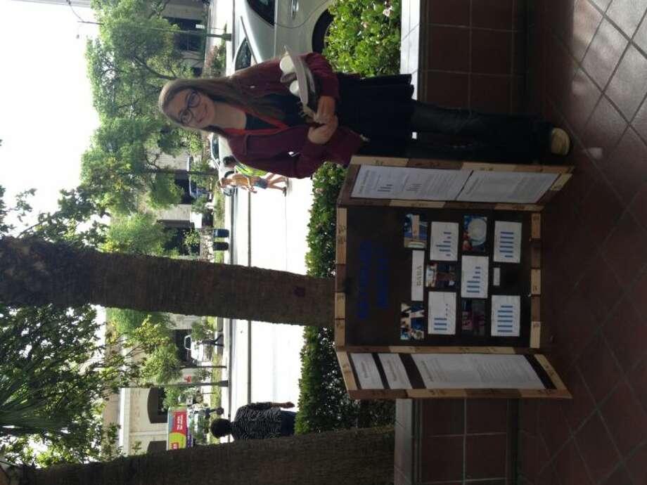 Seabrook Intermediate Student Morgan Bates placed second in the category Junior Engineering: Materials/Bioengineering.