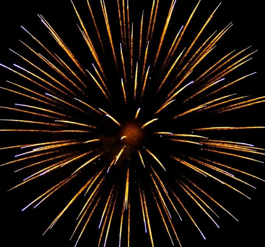 A spectacular fireworks show closes the Independence Day celebration at Liberty Municipal Park on July 3, 2013.