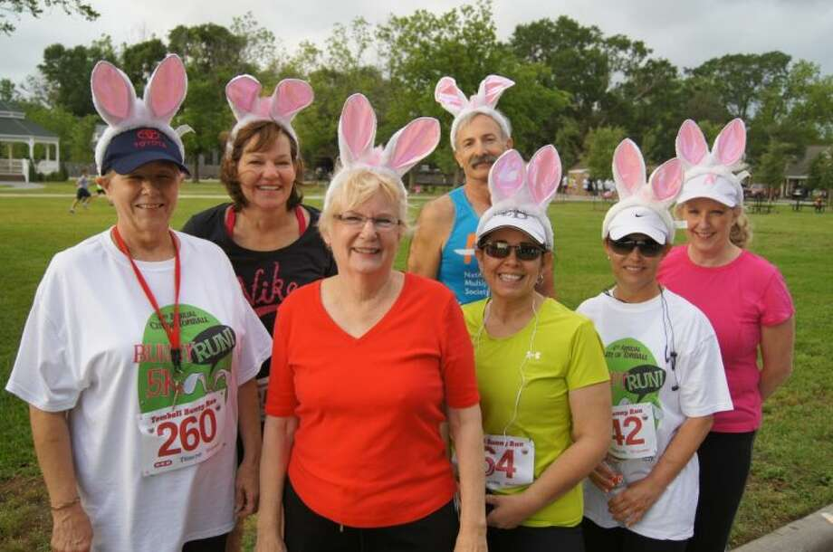 Bunny-eared participants from the 2012 Bunny Run in Tomball.