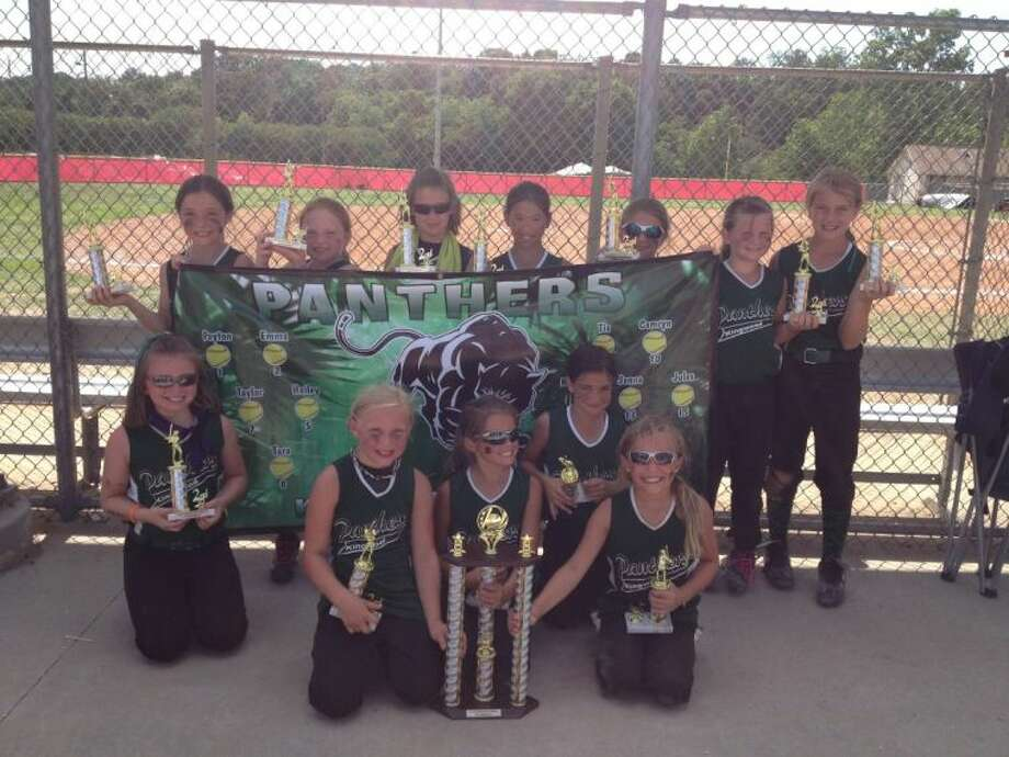 KGSA 8U All Stars celebrated their 2nd place victory at the 2013 Father's Day Frenzy Tournament at Bayer Park in Spring, June 14-16, 2013. Shown from left to right are, (front) Taylor Vannett, Jamie Allums, Peyton Cote, Bella Martinez and Tara Wolocko. Shown on the back row, are Merf Schmitt, Madi Schroeder, Hailey Harvey, Jenna Simpson, Makaila LeCompte, Camryn Knight and Tia Elliott.