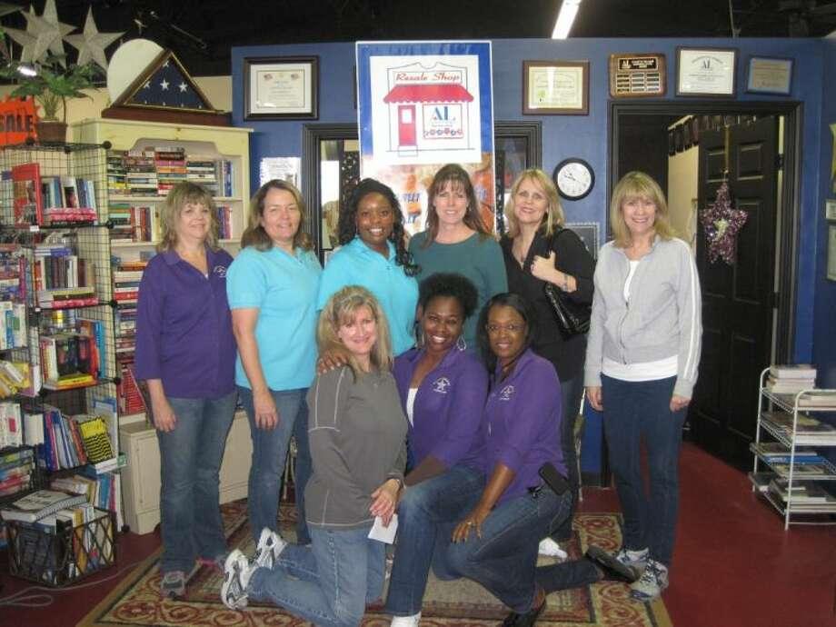 Pictured from left: Yolene Hairgrove, Paula Evard, Dava West, Thelma Triplett, Mondee Suggs, Emily Warner, Renee Armstrong, and Margarita Reyes.