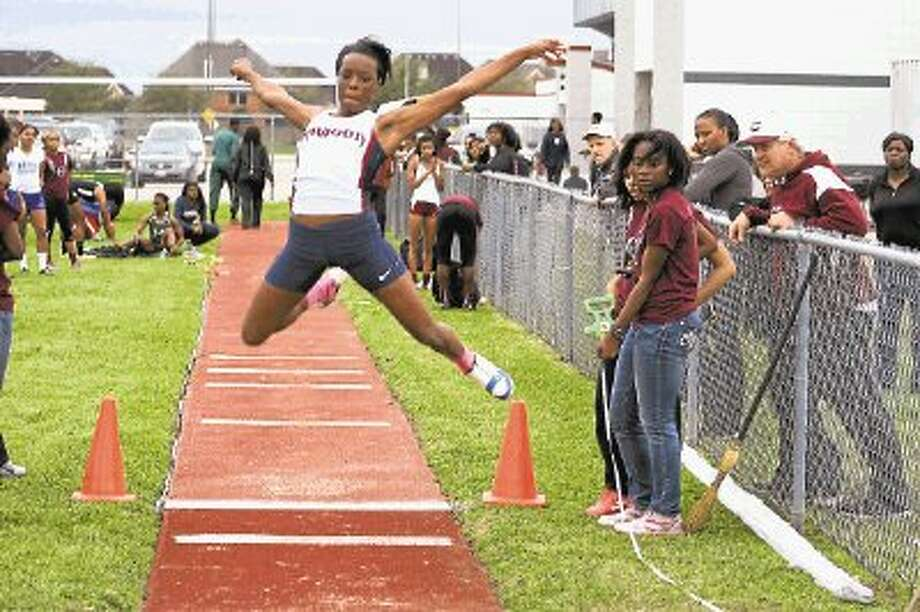 Dawson's Hailey Heuwitt finished second in the long jump and triple jump this past weekend in the John Morris III Relays at Pearland High School. / @WireImgId=2616852