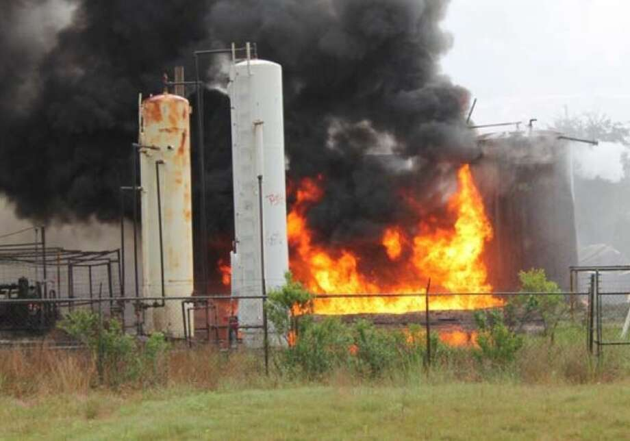 Crude oil tanks catch fire over the weekend