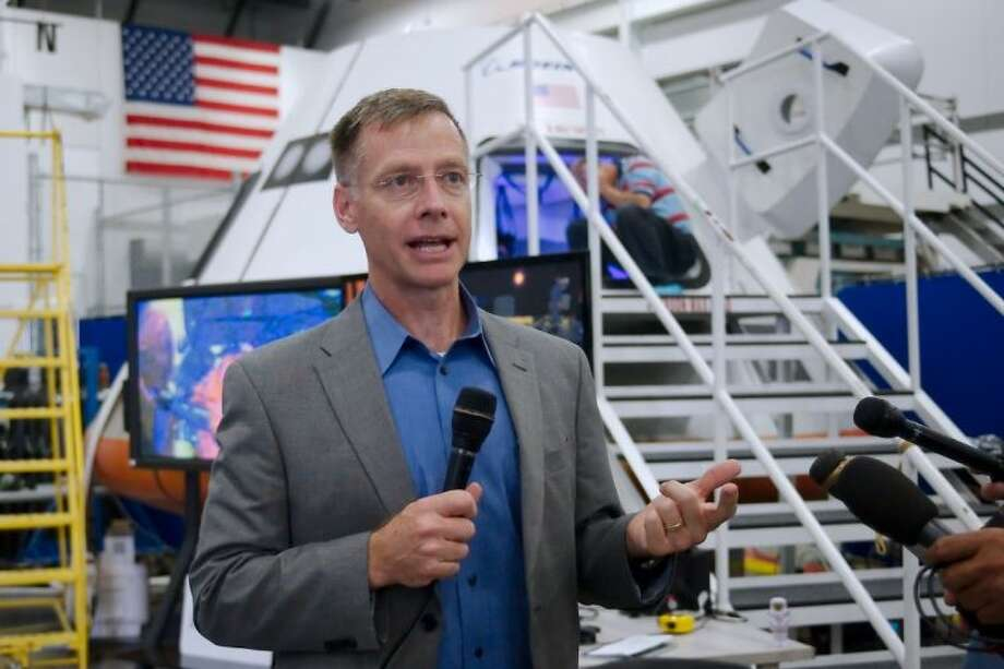 Former Astronaut and Boeing Commercial Crew and Mission Operations Director Chris Ferguson speaks to the media regarding the Boeing CST-100 Commercial Crew Module Monday, July 22.