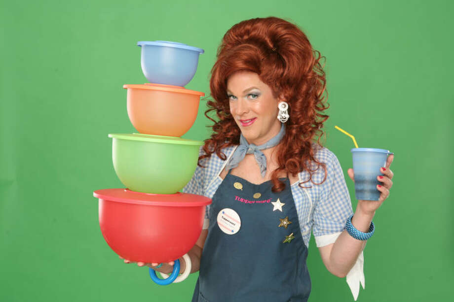 "Dixie Longate will star in ""Dixie's Tupperware Party"" at the Hobby Center."
