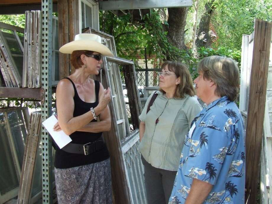 Organizer Lynn Edmundson talks with some perspective buyers in 2011.