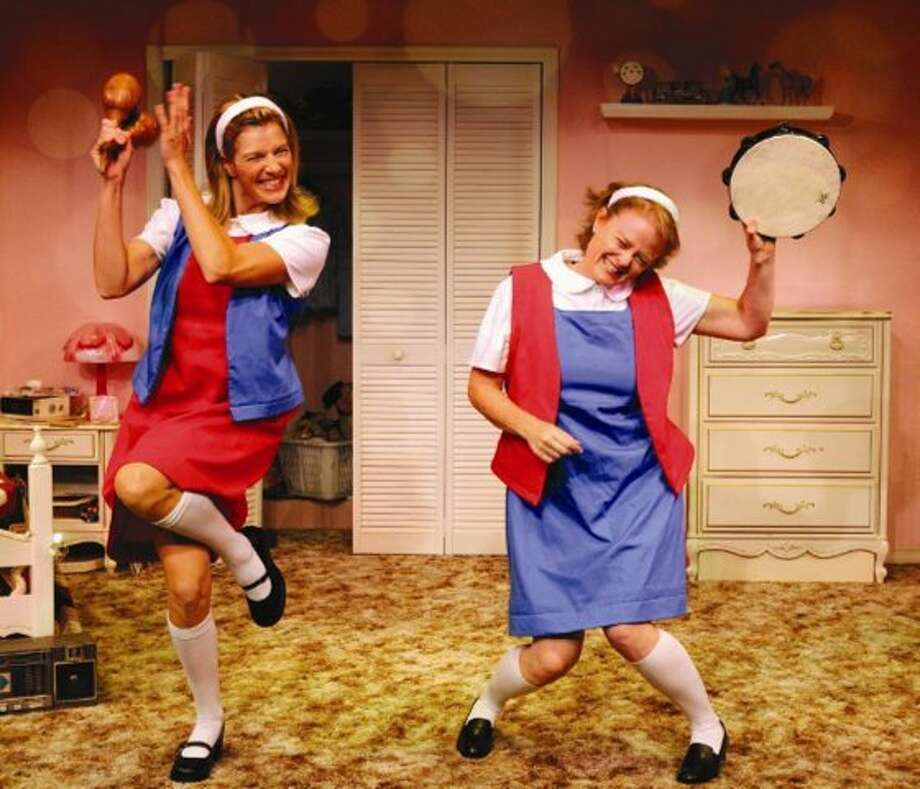 Author/actresses Barbara Gehring (l) and Linda Klein (r) strut their stuff in Girls Only - The Secret Comedy of Women®.