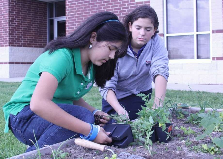 Time for spring planting at Rogers Middle School